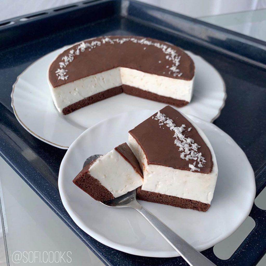 Кокосовый торт 'Птичье молоко'🥥