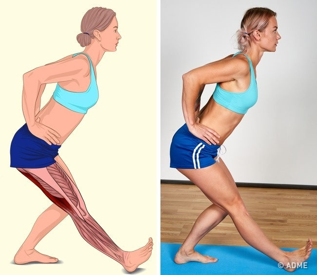18 изображений, которые наглядно покажут, какие мышцы вы растягиваете