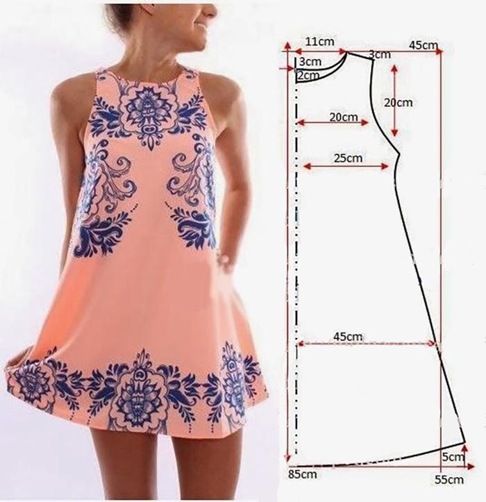 Знакомый портной поделился простыми выкройками стильных платьев! Получится даже у новичков.