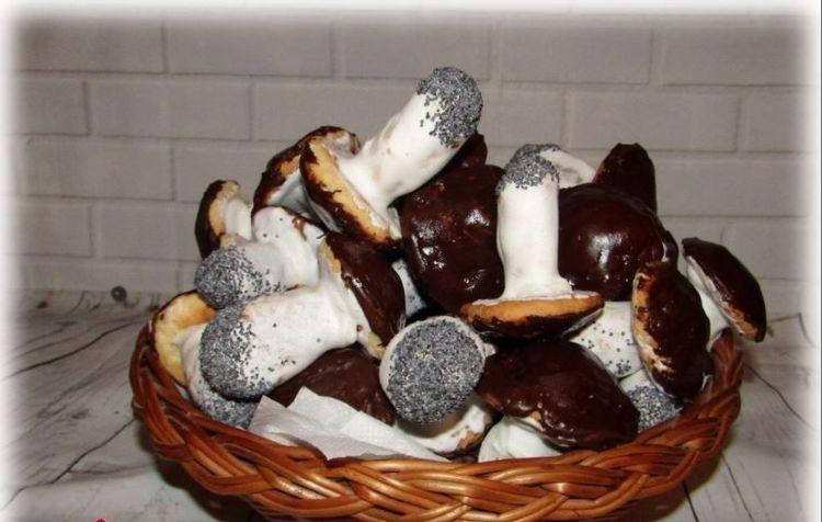 Очень вкусное печенье «Грибочки»