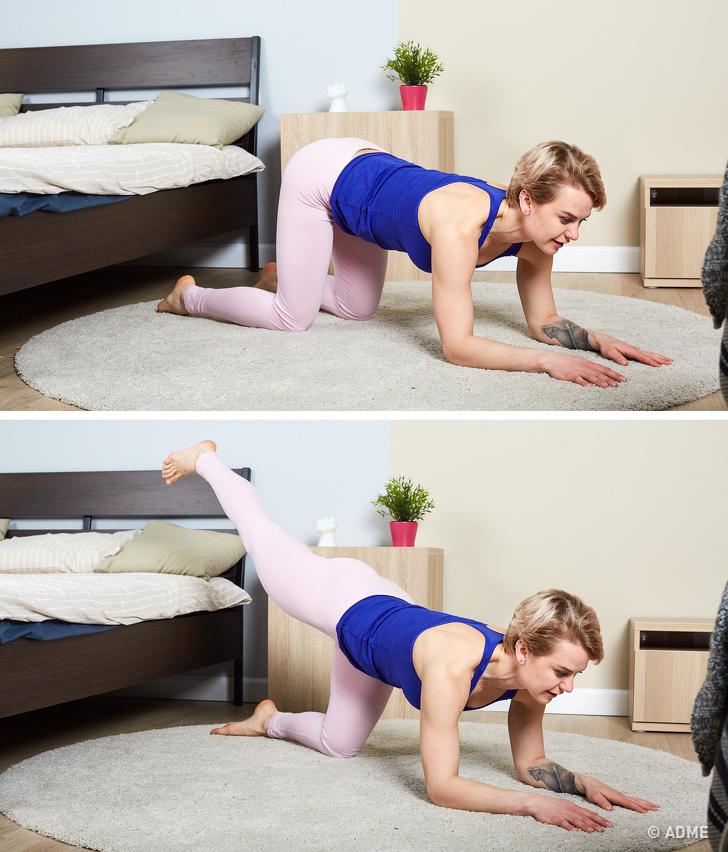10 упражнений, которые помогут накачать попу даже самым ленивым людям