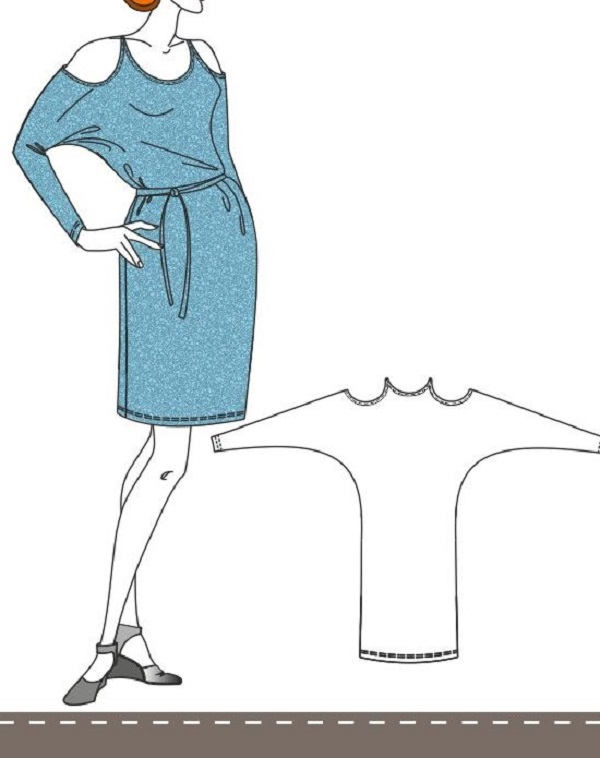 12 цельнокроеных модных нарядов для начинающих портних. Кроят одним куском даже новички!