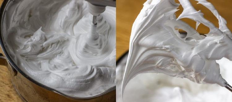 «Мокрое безе» — крем глянцевый, стойкий, отлично держащий форму и не растекающийся.