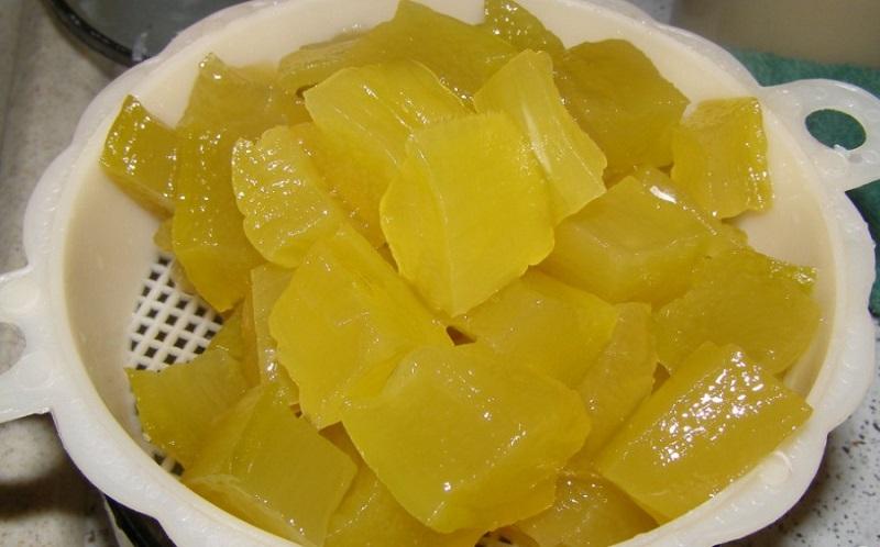 Ананасы из кабачков за 15 минут, на вкус не отличишь.