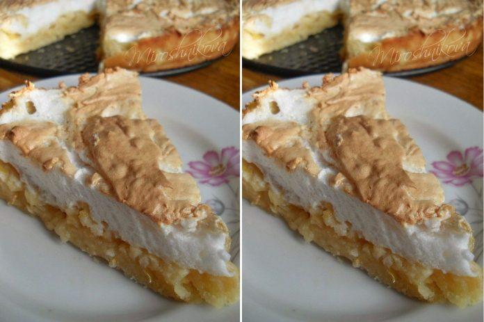 Замечательный яблочный пирог с мягким безе — красивый, вкусный и мягкий!