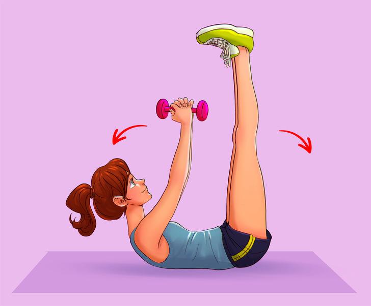 Готовимся, уже скоро лето – 6 упражнений, которые помогут забыть о жировых складках на спине и боках