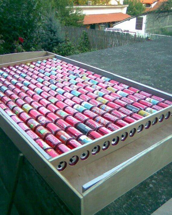Солнечный коллектор из пивных банок за 7 шагов