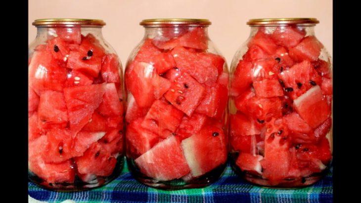 Вкусные консервированные арбузы на зиму без уксуса
