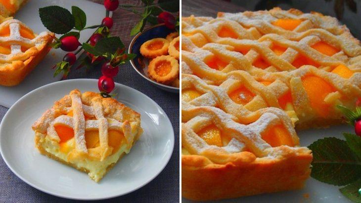 Персиковый пирог «Нежный»